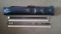 Viking G51 , Lucasi Jump/Break Cue & Sterling 2x4 leather case