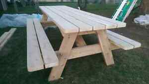 Cedar picnic table (built and ready for sale) Peterborough Peterborough Area image 5