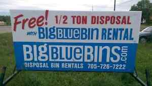 FREE 1/2 TON with BIN RENTAL Flat rate - Garbage, Junk, Roofing