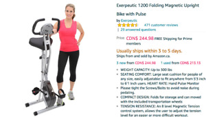 Exerpeutic 1200: Excellent bike trainer in mint condition