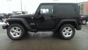 2013 Jeep Wrangler 2 Door, Automatic, A/C, Dual Tops, 48,000 km!