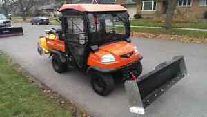 Kubota RTV900 with Plow and Rear Snowblower
