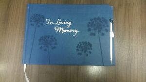 New Sympathy Funeral Guest Book