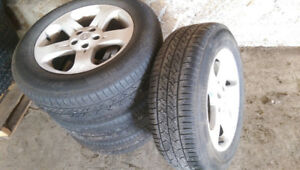 Set of Continental True Contact Tires on Rims, Nissan Murano