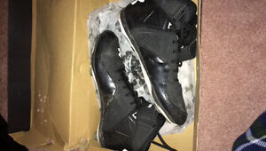 Mint under armour high top football cleats