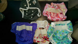 5 cloth diaper covers and wet bag