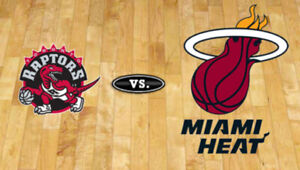 Raptors vs Miami Heat - April 7 (Section 109 & 117) 2-4 Tickets