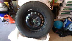 Four 17-inch Toyo Winter Tires and Rims with Sensors