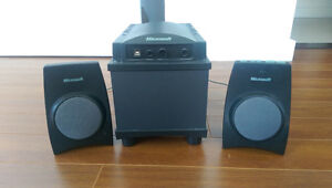 Microsoft Speakers with Sound Woofer  for computer and AUX