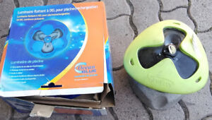 Glow buoy and Ocean Blue floating swimming pool lights