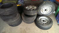 selection of used tires and rims