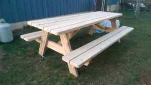 Cedar picnic table (built and ready for sale) Peterborough Peterborough Area image 2
