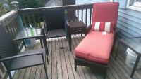 Beautiful Brown strong Wicker Patio Set **PPU**