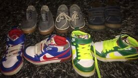Boys toddler size 8 shoes and trainers