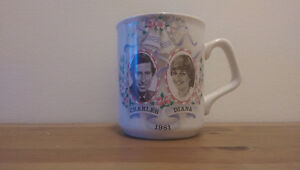 (Vintage) Princess Diana and Prince Charles Wedding souvenir mug