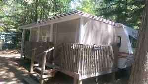 Pinewood Park -  trailer,  deck and shed
