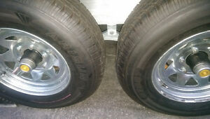 New 3 Trailer wheels assembled, galvanized rims, 225/75/D15