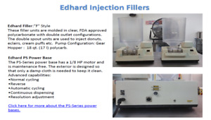 Edhard Injection Donut Fillers (2) 18qt with PS Station