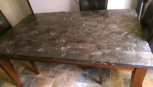 Stone top dining table 3 1/2 x 6 feet. Need gone by Friday