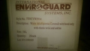 White Microporous Coverall with Hood