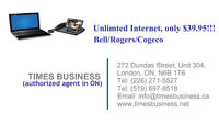 (Bell/Rogers/Cogeco Unlimited Internet Only $39.95 up)