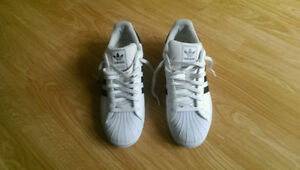 Men's Size 11 Adidas Superstar Shell Toe Shoes. (Still Available