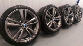 "Genuine BMW 3 4 Series 19"" 442 M Sport Alloy Wheels And Tyres F30 F31 F32 F33 E90 E92 Z4 Ferric"