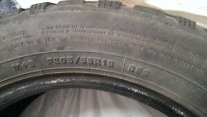 4 pneus neiges Mazda3 2L
