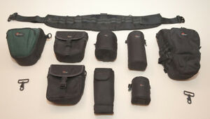 Lowepro modular belt mounted camera carrying system.