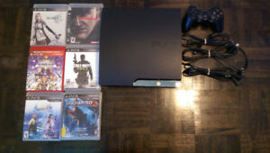 160gb PS3 slim, controller, and 6 games for $140