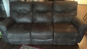 Charcoal 3-Seat Recliner Couch