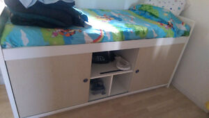 Ikea single bed with storage underneath
