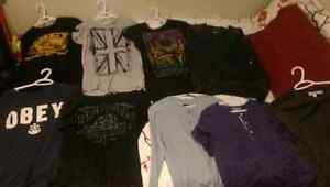 Mens brand name clothing lot. 9 items for $40