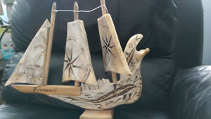 Handmade Cuban Souvineer Pirate Ship