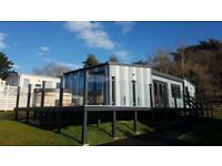 ** Lodge Static Holiday Home with Decking and Hot Tub and a 12 month season **