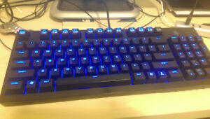 Compact mechanical keyboard with Cherry MX Blue switches