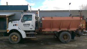 Sterling sand truck with dump box