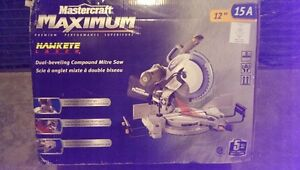 Dual-Beveling Compound Mitre Saw with Lasser, 12 inch