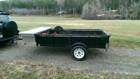 Utility Trailer with Spare tire and locking tool box