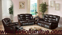 3pcs Bonded Leather Recliner Sofa Set Lowest Prices Guaranteed