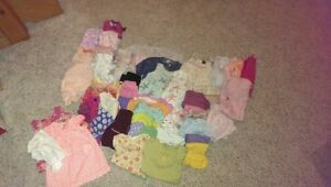 Big lot of girls clothing 0-6 months spring/summer