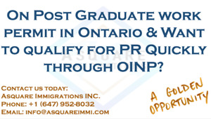 International Student –Employer Job Offer Stream of OINP OR LMIA