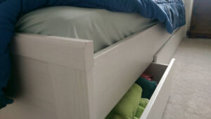 Ikea Bed & Mattress with Drawers