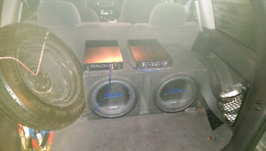 Alpine type s subs and caption amps and speakers