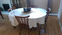 Complete wood kitchen table set