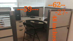 4 L shaped working stations/ office cubicles