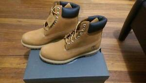 "TIMBERLAND ICON 6"" PREMIUM LEATHER BOOT - WHEAT / BROWN US 8 9 42 Watsonia Banyule Area Preview"
