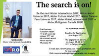 Search for Mister International Canada 2017