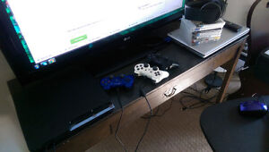 PS3 with wireless PS3 headphones and games