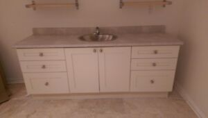 6 drawer vanity cabinet with sink